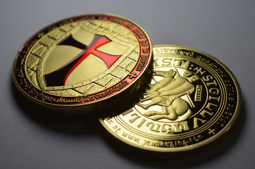 Knights Templar with Red Enamel - 24ct Gold