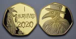 'I Survived 2020' Plague Doctor - Gold