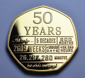 50th Birthday 'But Who's Counting' - 24ct Gold