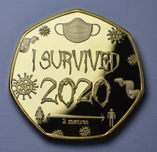 Load image into Gallery viewer, 'I Survived 2020' - Gold