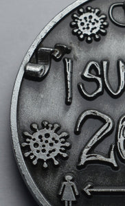 'I Survived 2020' - Antique Nickel