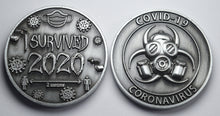 Load image into Gallery viewer, 'I Survived 2020' - Antique Nickel
