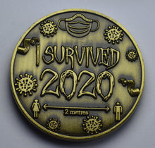 Load image into Gallery viewer, 'I Survived 2020' - Antique Gold