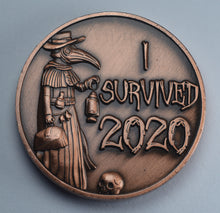 Load image into Gallery viewer, 'I Survived 2020' - Plague Doctor - Antique Copper