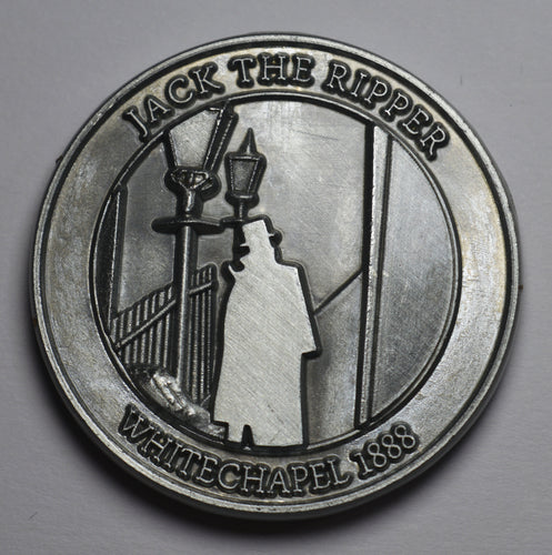 Jack the Ripper - Round Embossed - Nickel Silver