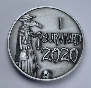 'I Survived 2020' - Plague Doctor - Antique Nickel