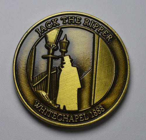 Jack the Ripper - Round Embossed - Antique Gold