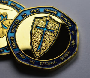 Knights Templar - 24ct Gold with Blue Enamel