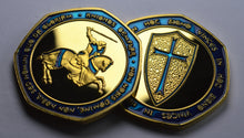 Load image into Gallery viewer, Knights Templar - 24ct Gold with Blue Enamel