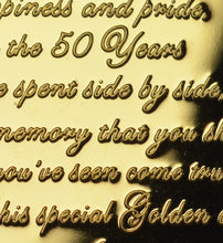 Load image into Gallery viewer, On Your 50th Golden Wedding Anniversary with Diamante Gemstone - Gold