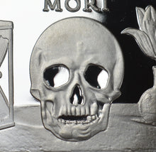 Load image into Gallery viewer, Memento Mori 'Skull Hourglass & Tulip' - Silver