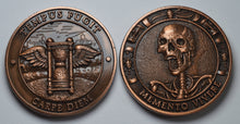 Load image into Gallery viewer, Memento Mori -Tempus Fugit' - Antique Copper