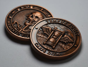 Memento Mori -Tempus Fugit' - Antique Copper