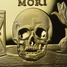 Load image into Gallery viewer, Memento Mori 'Skull, Hourglass & Tulip' - 24ct Gold