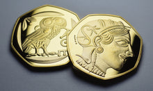 Load image into Gallery viewer, Owl of Athena - 24ct Gold