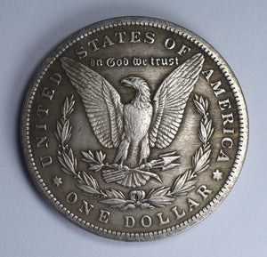 Morgan Silver Dollar 1899. Anubis/Egyptian