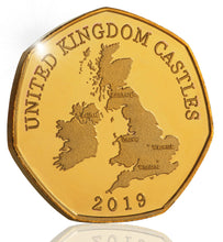 Load image into Gallery viewer, Full Set of the 2019 United Kingdom Castle Series (24ct Gold)
