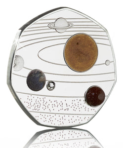 Our Solar System - Silver with Diamante, Colour & Shimmer/Sparkle Elements