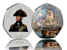 Load image into Gallery viewer, Trio of Horatio Nelson & the Battle of Trafalgar in Presentation/Display Case