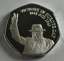 Load image into Gallery viewer, Winston Churchill, VE DAY - Silver