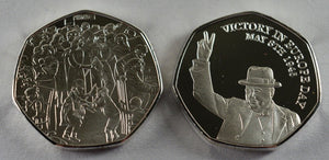 Winston Churchill, VE DAY - Silver