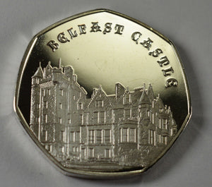 Full Set of 2019 CASTLE SERIES .999 Silver Commemoratives + Hard Presentation 50p Display Case