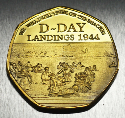 Winston Churchill, D-DAY - 24ct Gold