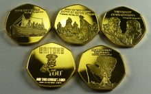 Load image into Gallery viewer, Full Set of 20th Century News/Events 24ct Gold Commemoratives in Presentation/Display Case