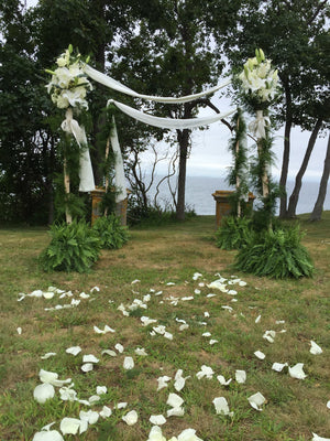 Dreamy Chuppah with Ferns and White Bouquets