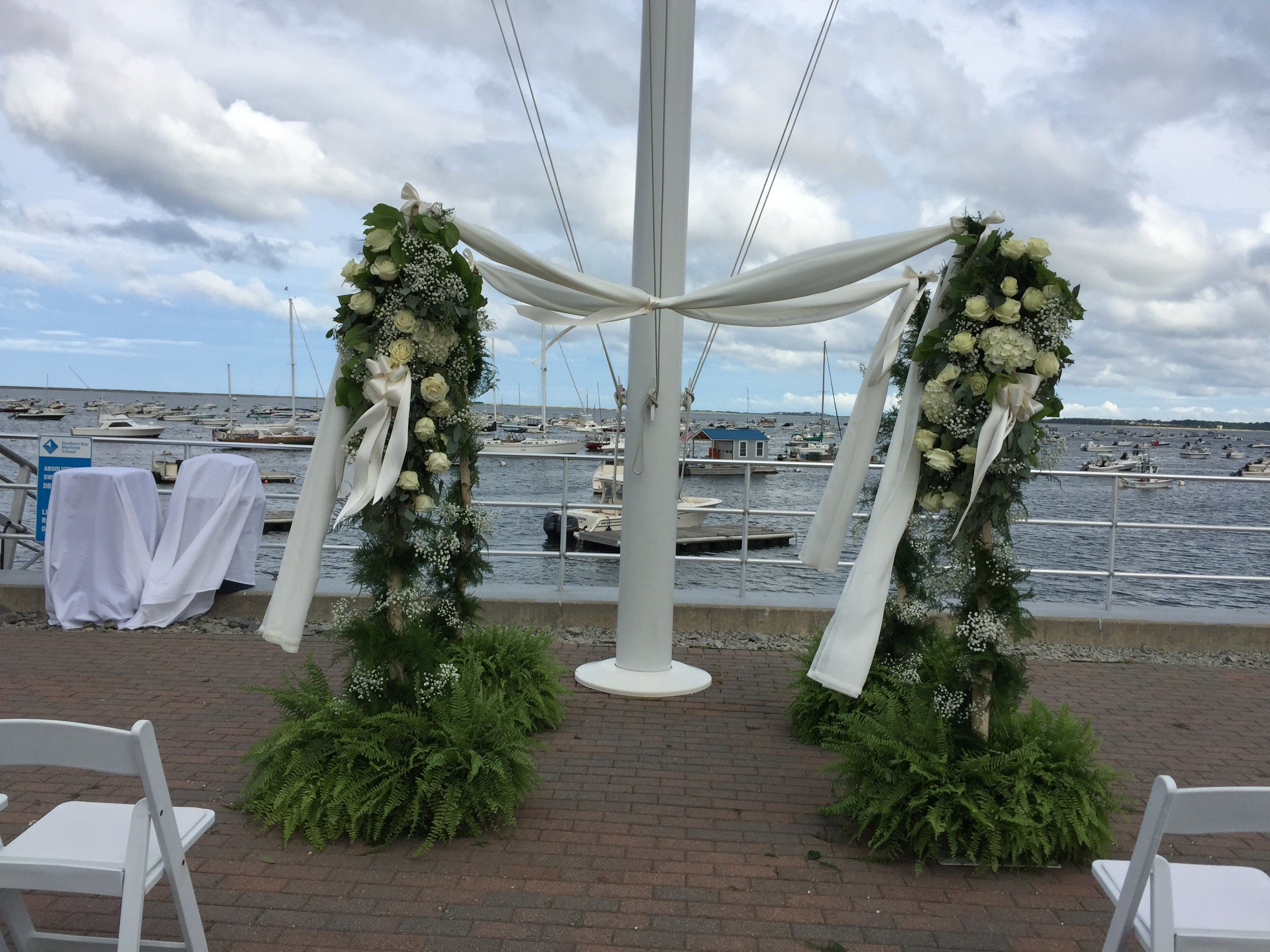 Floral Chuppah for Wedding over an Ocean View