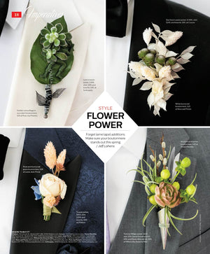"Featured in The Improper Bostonian ""Flower Power"""