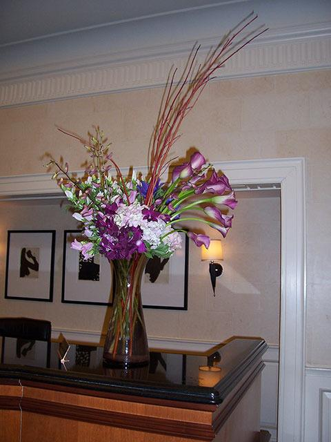 Floral Display for Concierge Desk