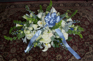 Casket Flowers with Dad Ribbon