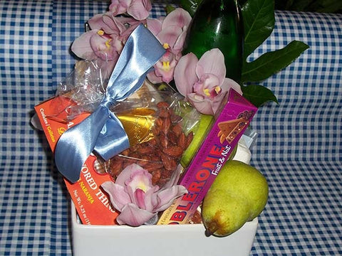 Floral Food Basket