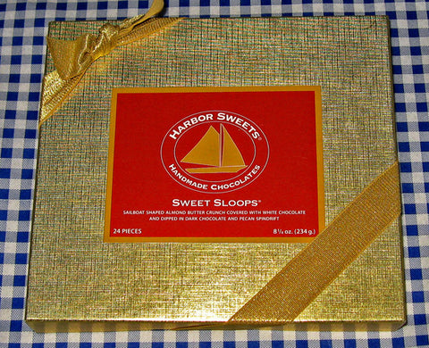 Harbor Sweets Almond Butter Crunch Sweet Sloops Gift Box -24 pieces $19.50