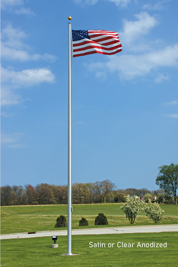 External Halyard Flagpoles (Most Economical)