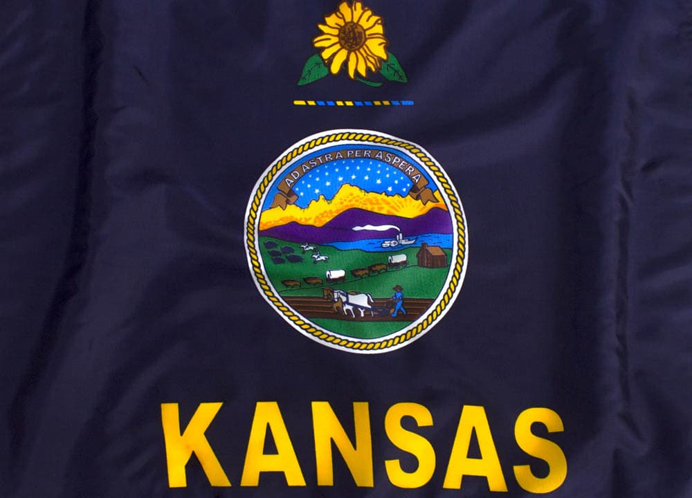 10x15ft  Kansas Flag