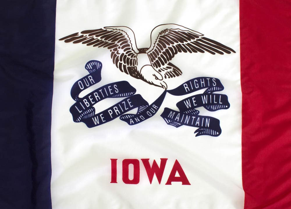 5x8ft Iowa Flag