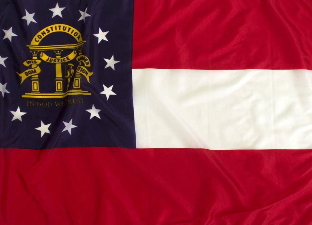 8x12ft  Georgia Flag