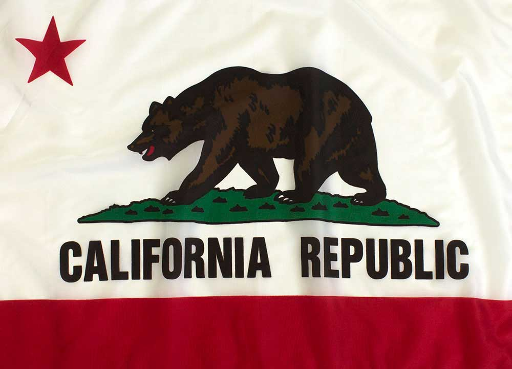 Outdoor California Flag