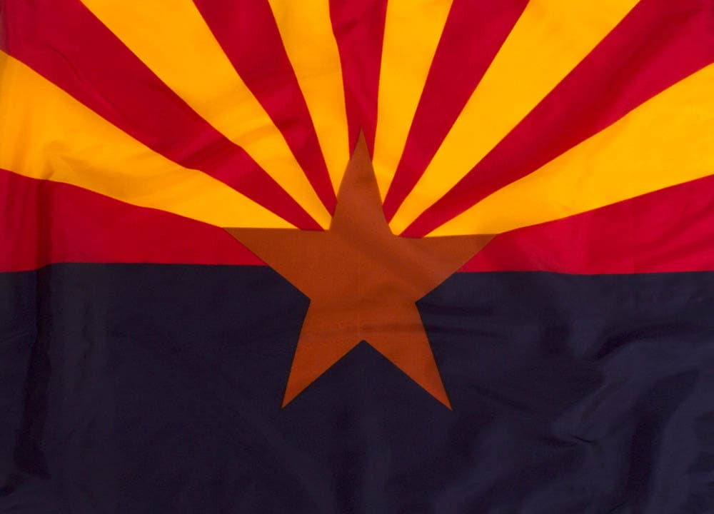 3x5ft  Arizona Flag (Most Popular Size)