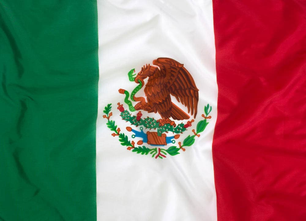 5x8ft  Mexican Flag (Popular Size)