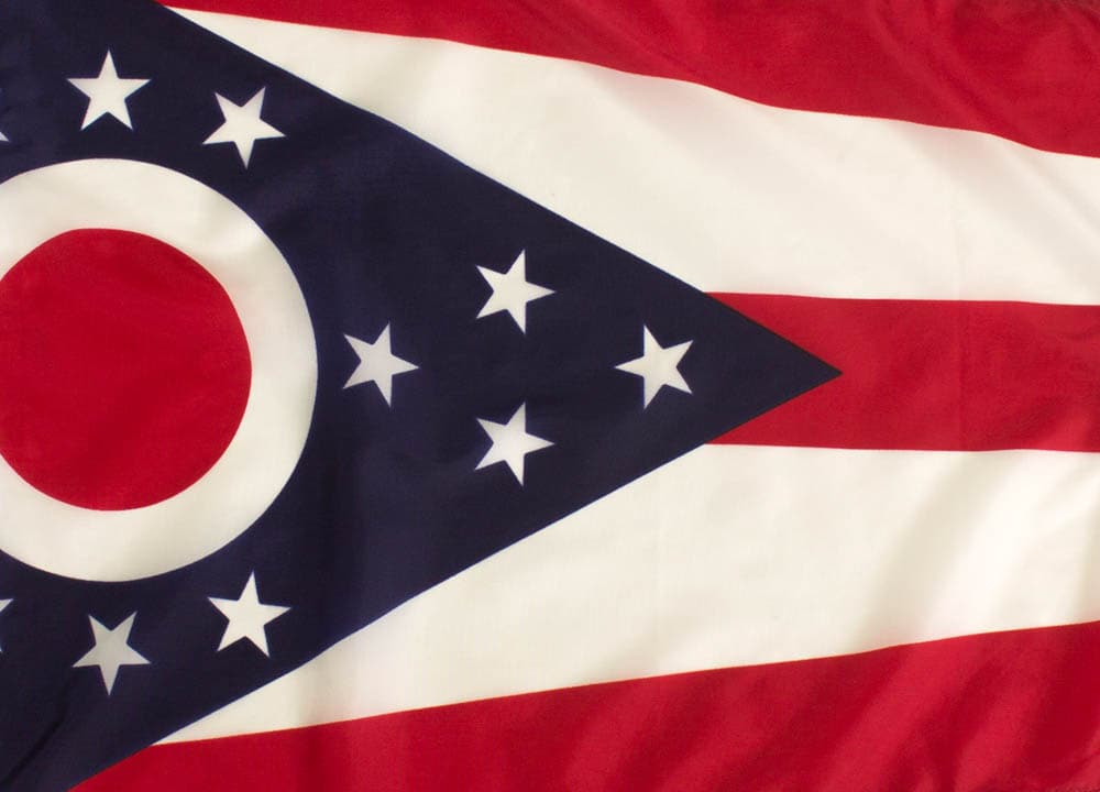 Nylon Ohio Flag