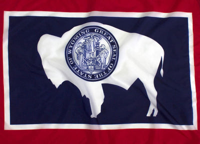 Outdoor Nylon Wyoming Flag