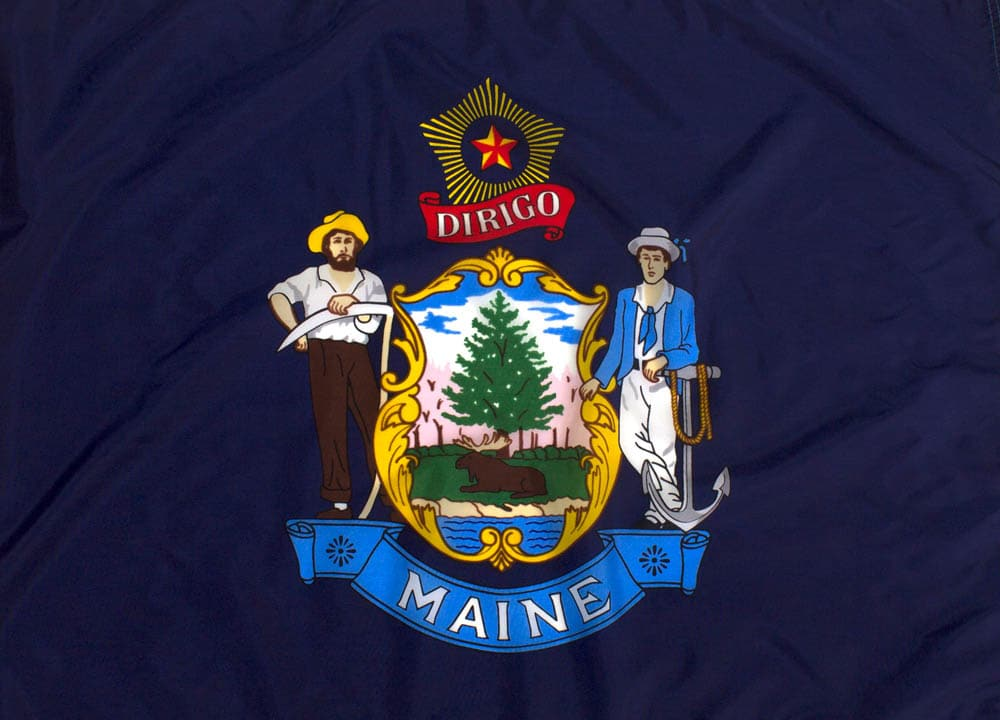 Outdoor Nylon Maine Flag