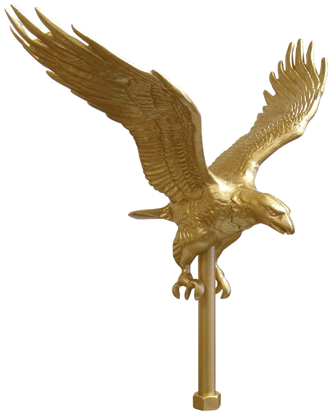 Eagle Flagpole Ornament - Gold Anodized