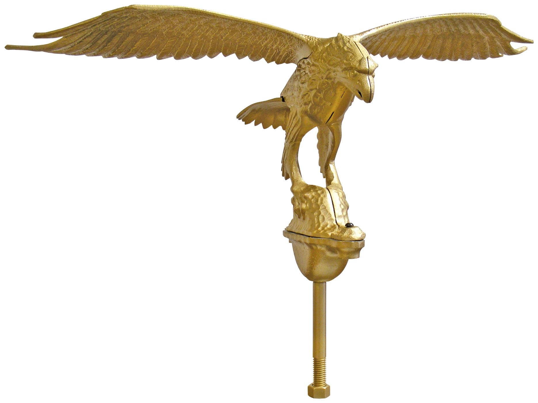 Gold Anodized Eagle Ornament for Commercial Flagpole