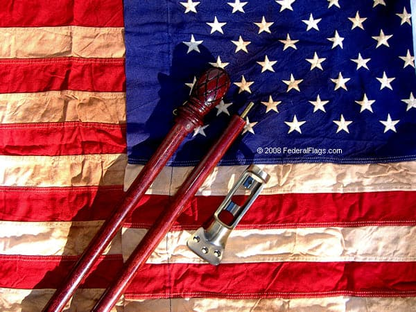 Old Glory, Antiqued American Flag and Mounting Kit