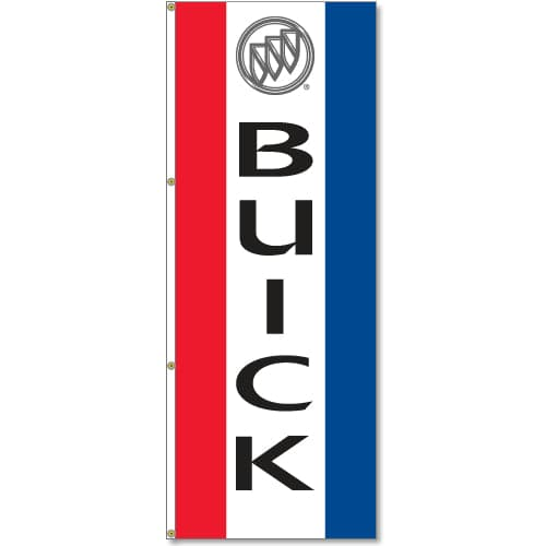 Buick Logo Flag Red White Blue