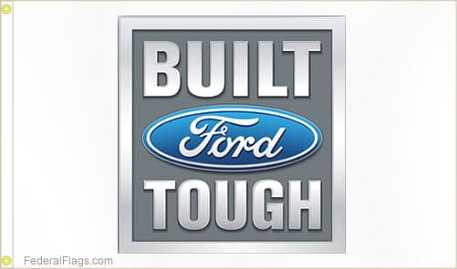 3x5 ft. Built Ford Tough Logo Flag
